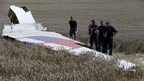 MH17 wreckage/investigators - 1 Aug 14