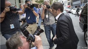 "Argentina""s Economy Minister Axel Kicillof arrives at a press conference at the Argentine Consulate in New York July 30, 2014."