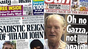 Composite image of Mail and Sun front pages