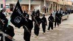 Islamic State militants in Raqqa, Syria. File photo