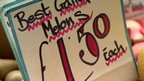 Market sign reads 'best Galia Melons £1.50 each'