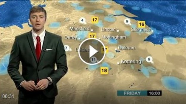 Charlie Slater presenting the weather forecast