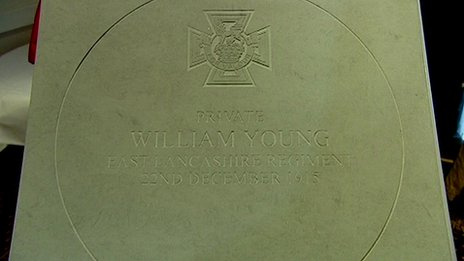 WWI Victoria Cross stone
