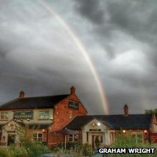 Rainbow over Ingleby Barwick