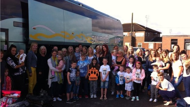 Castleford Tigers players, wives and children