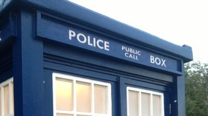 The Tardis at Warmley's Waiting Room Cafe