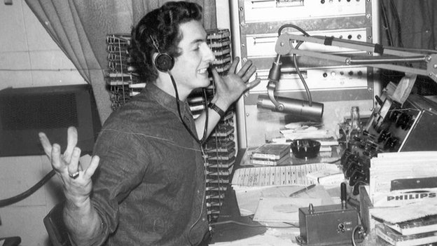 Dave Cash in the Radio London studio