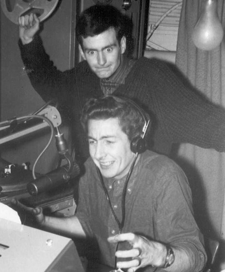 Kenny Everett and Dave Cash at Radio London