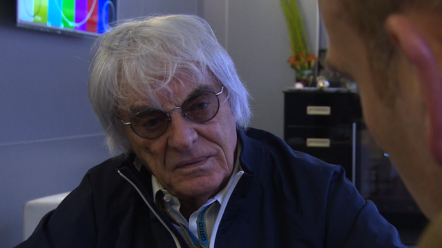 Bernie Ecclestone speaking to BBC's Dan Roan