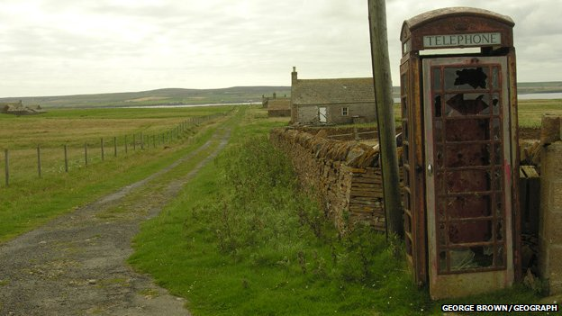 Phone box on Stroma
