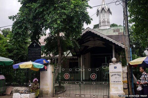 The Armenian church in Yangon