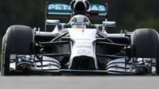 Lewis Hamilton was second fastest in first practice for the Belgian Grand Prix at Spa