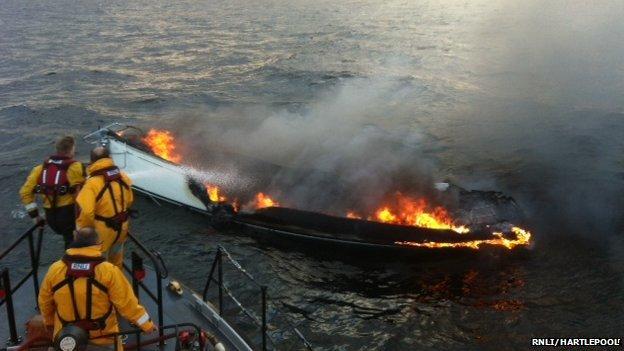 Fire yacht