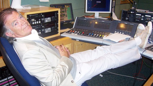 Gerry Anderson in the studio