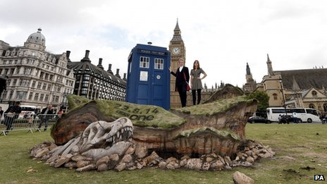 Doctor Who stars Peter Capaldi and Jenna Coleman