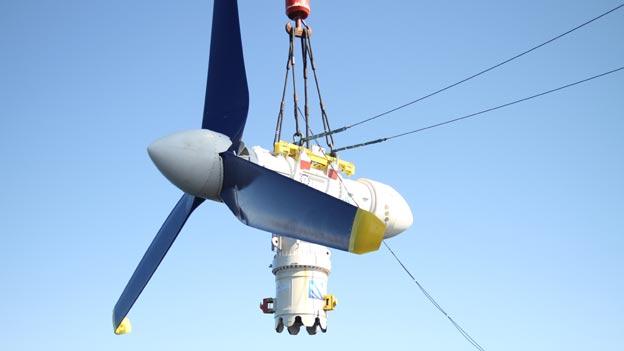 A tidal turbine