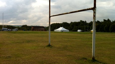 Pitch at Amber Valley Rugby Club