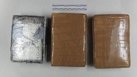 The seized cocaine