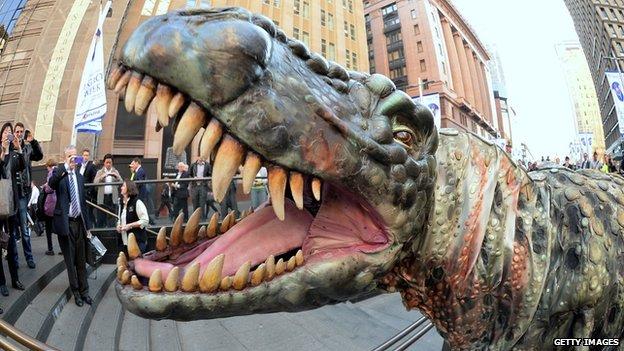 Model Dinosaur on the street