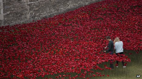 Poppies outside Tower of London