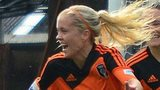 Denise O'Sullivan celebrates her goal in the Champions League group stage for Glasgow City