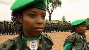 Two Ugandan army officers photographed in 2007