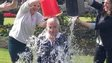 Alistair Darling doing ice bucket challenge