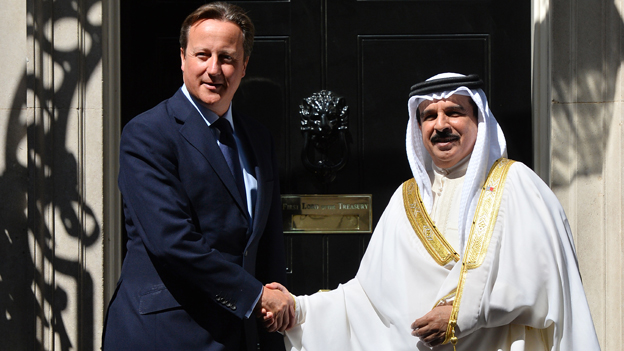 David Cameron and King Hamad