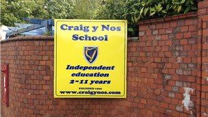 Craig y Nos school sign