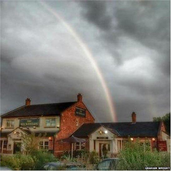 Rainbow over Ingleby Barwick