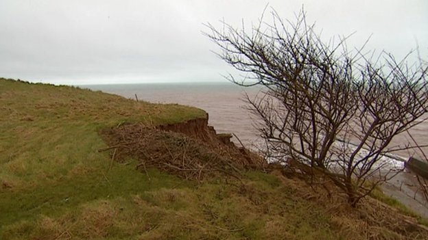 Coastal erosion in Sidmouth