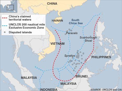 Map of South China Sea