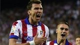 Atletico Madrid's Croatian forward Mario Mandzukic celebrates after scoring