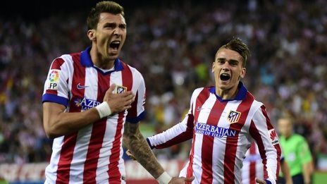 Mario Mandzukic(left) and Antoine Griezmann