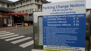 Car park at Oldham Royal Hospital