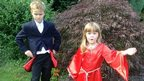 Sam and his sister  Katie dressed as Doctor Who characters
