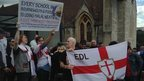 EDL march in Bournemouth