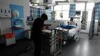 Nurse in hospital ward