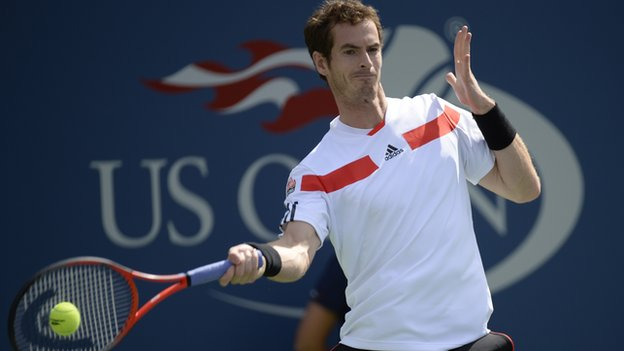 Andy Murray in action at the US Open 2013.