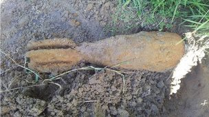 world war two bomb found at Kenfog Pool, Bridgend