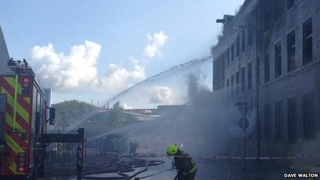 Fire at Ivy Mill, Bradford