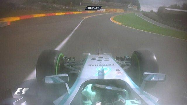 Mercedes' Nico Rosberg's pole lap in Belgium