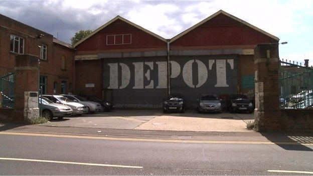 Bus depot on Magdalen Street, Colchester