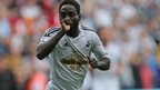 Nathan Dyer celebrates after scoring for Swansea