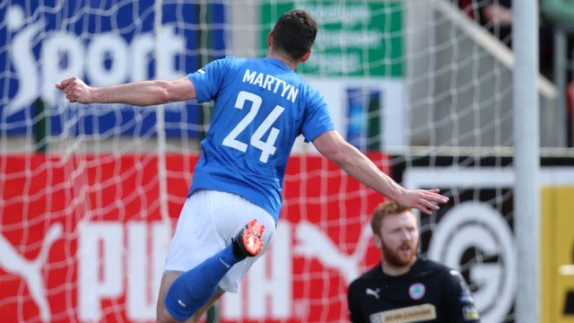 Ciaran Martyn hit a hat-trick against Cliftonville at Solitude