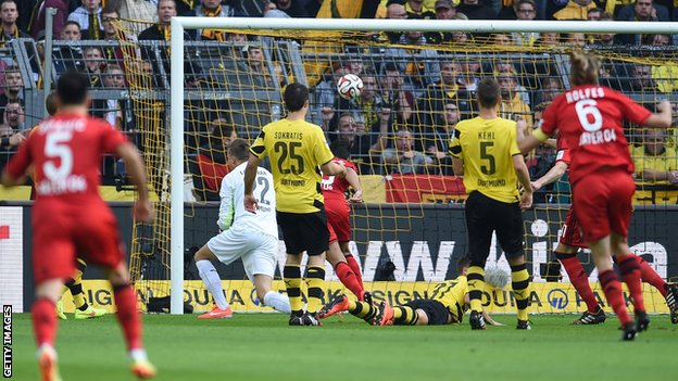 Karim Bellarabi scores fastest Bundesliga goal for Bayer Leverkusen