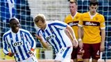 Kilmarnock's Sammy Clingan (centre left) celebrates after giving his side the 2-0 lead against Motherwell.