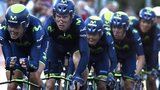 Movistar win the team time trial