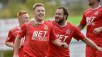 Portadown striker Mark McAllister found the net twice in the win over Crusaders