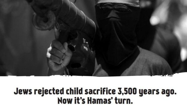 Advert condemn Hamas in New York Times